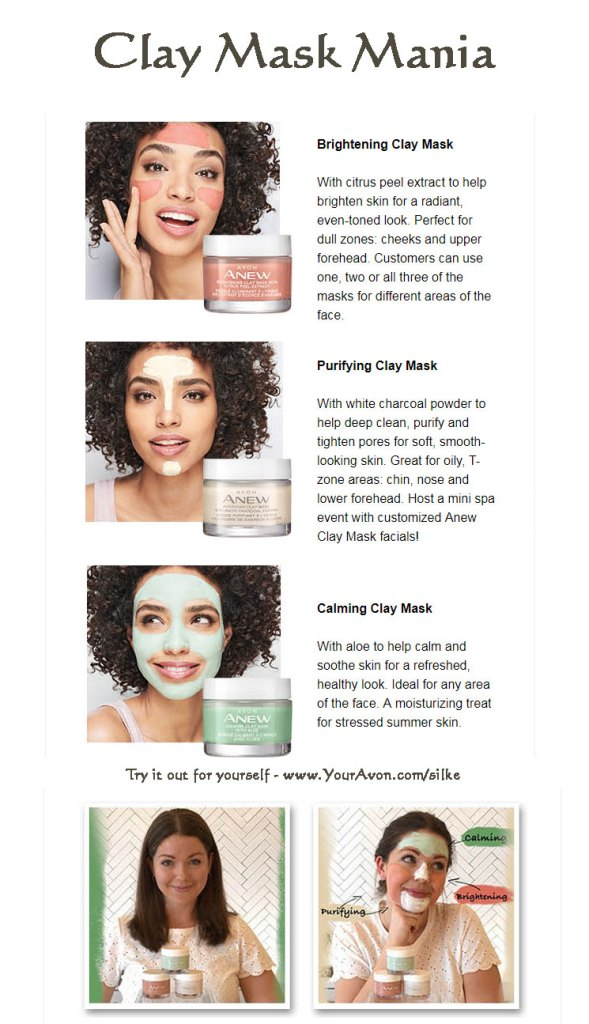 Anew Clay masks by Avon