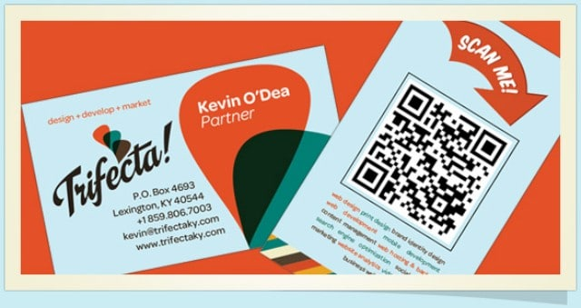 Great example of QR code for small business
