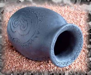 Vase Schwarzbrand