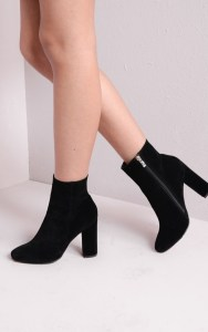 large_Faux_Suede_Chunky_Heel_Ankle_Sock_Boots_Black_Drune__6_of_5_