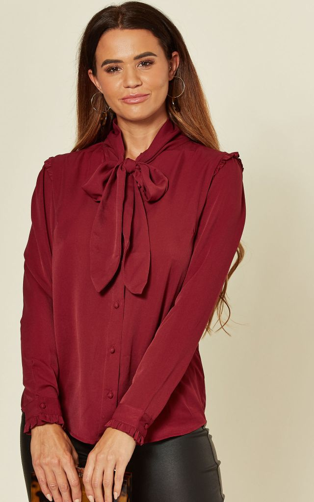 burgundy-pussy-bow-top