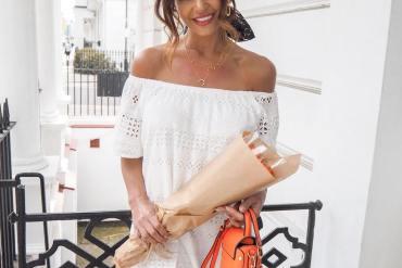 White bardot dress