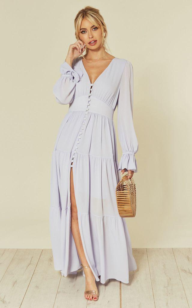Maxi dress in lilac