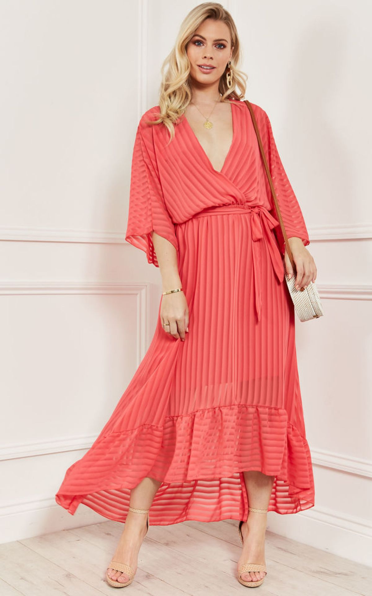 coral-plunge-maxi-dress-summer-sale