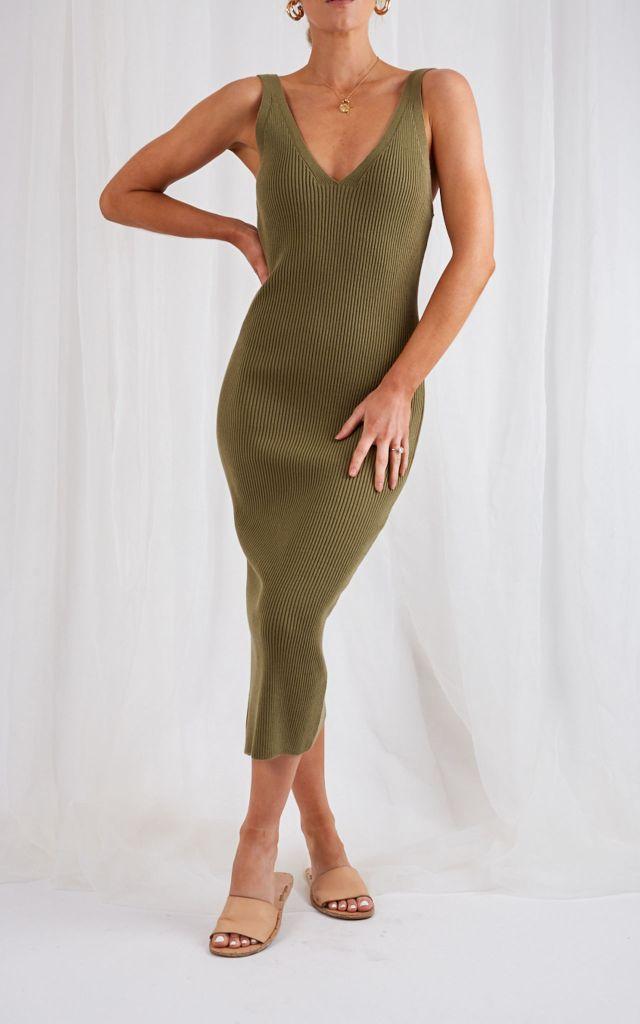 50% off Pretty Lavish khaki dress