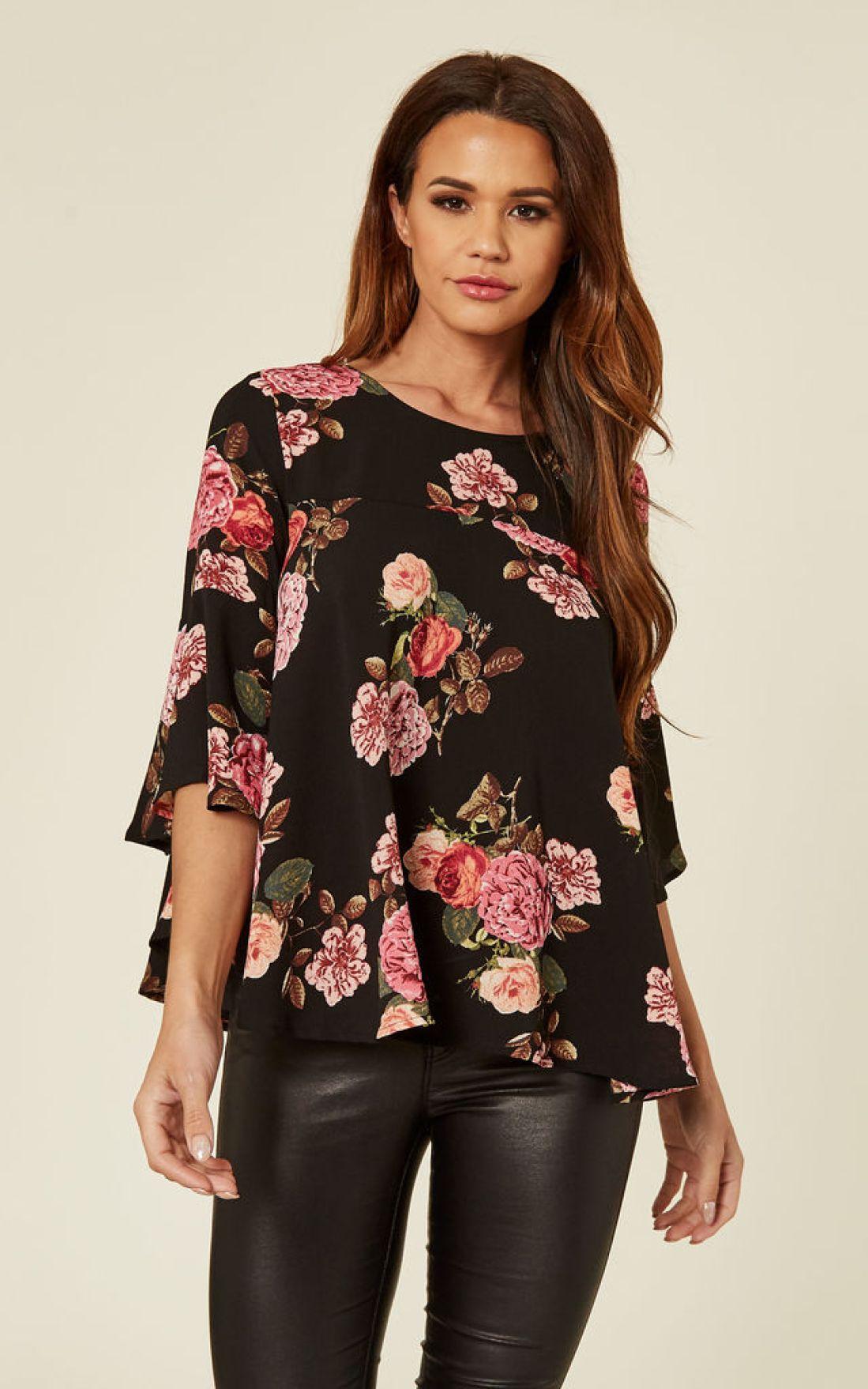 black-floral-print-blouse-black-friday