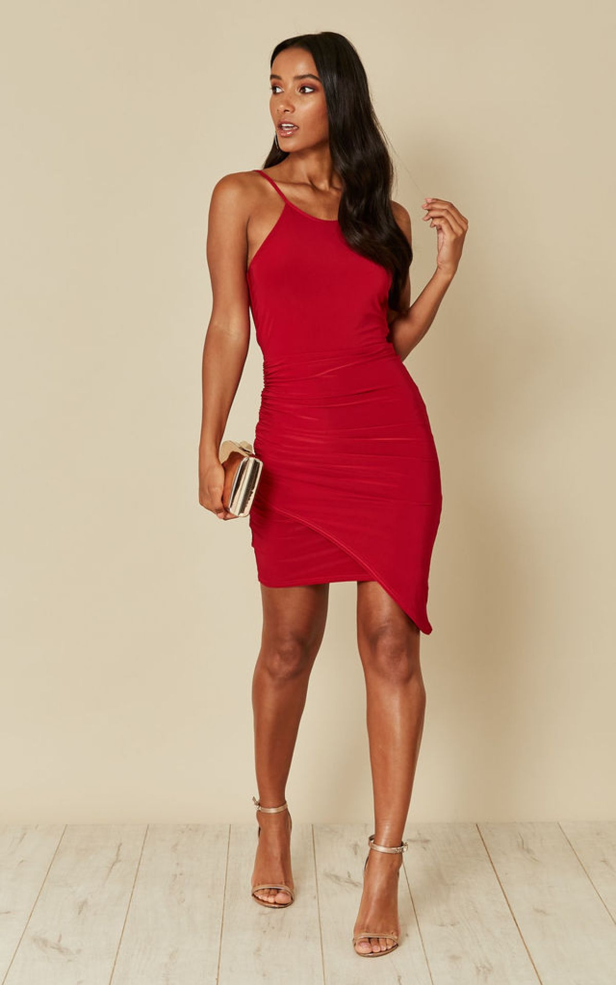 red-wrap-mini-skirt-black-friday
