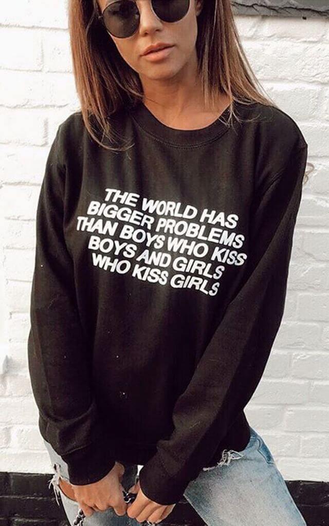 Black Sweatshirt With Equality Slogan