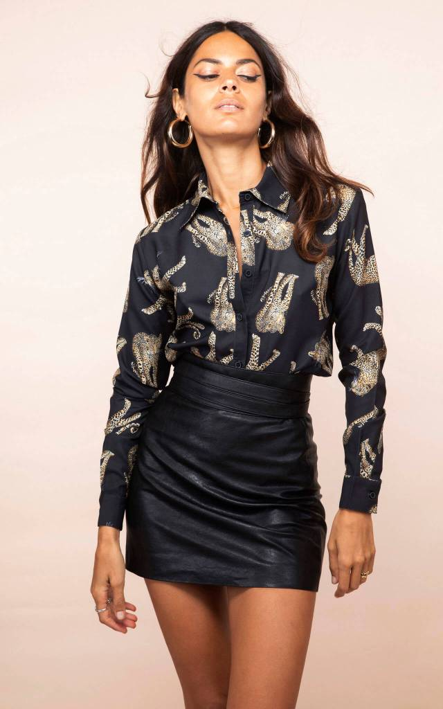 San Diego Shirt in Roaming Leopard
