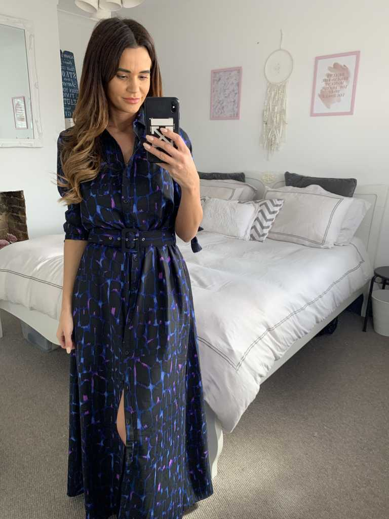 Work From Home Outfit With Maxi Shirt Dress