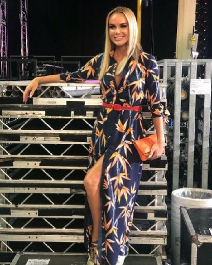 Amanda Holden Wearing the Dove Maxi Dress In Bamboo By Dancing Leopard