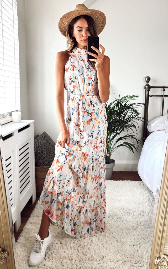 willow-high-neck-maxi-dress-with-frill-hem-and-tie-waist-in-white-multi-floral-summer-day-dress