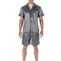 b332c9a2ac Noble Mount Mens Premium Satin Short Pajama Set · Julianna Rae Natalya Women s  100% Silk Pajama