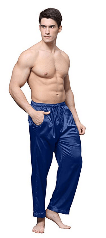 2331758fc9 Tony   Candice Men s Satin Pajama Pants Long PJ Bottoms