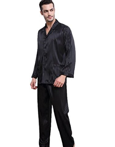 095ca98116 Mens Satin Short Pajamas Set Sleepwear Loungewear S~4XL