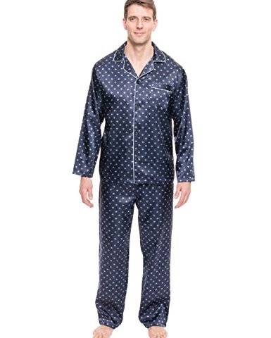c034cd58f9 Noble Mount Twin Boat Mens Satin Sleepwear Pajama Set