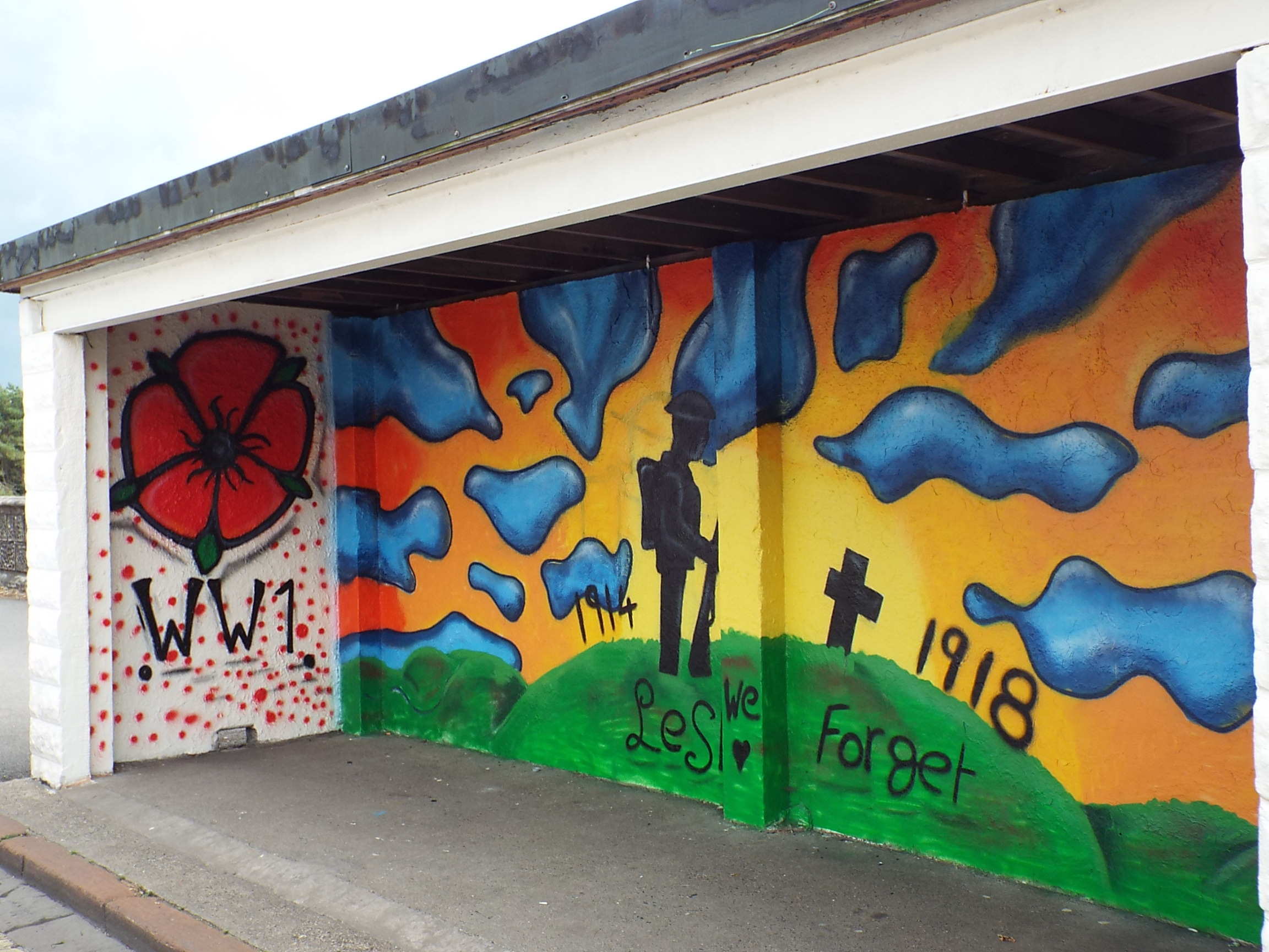 Youngsters create murals with a message