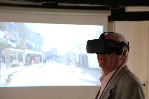 councillor bill jefferson with virtual reality headset on
