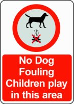 No dog fouling sign