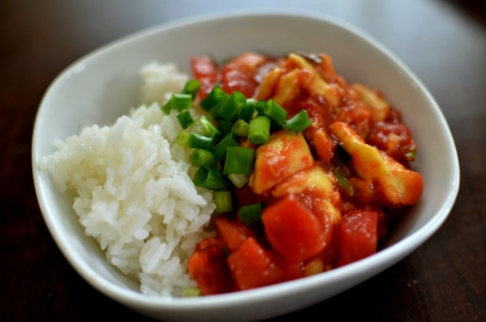 Tomato Egg with Rice