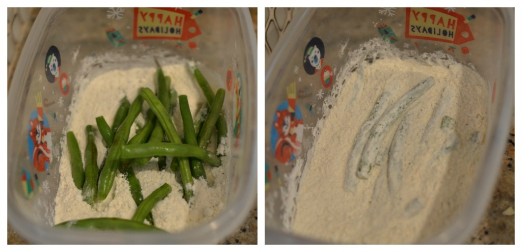 Flour and green beans