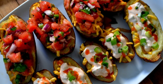 Vegan Potato Skins 2-Ways