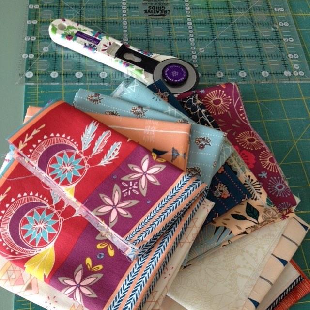 Cutting into my @maureencracknell #fleetandflourishfabrics today! Excited to begin this #newproject happy Friday! @artgalleryfabrics