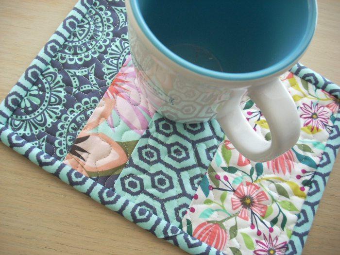 garden party tango mug rug