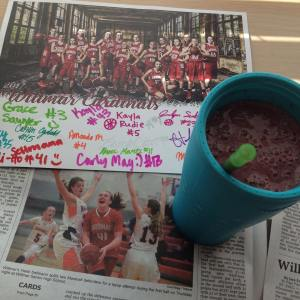 Perfect way to enjoy a Friday! superfoodshake while reading abouthellip