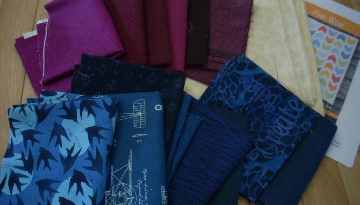 marine blue and burgundy quilt