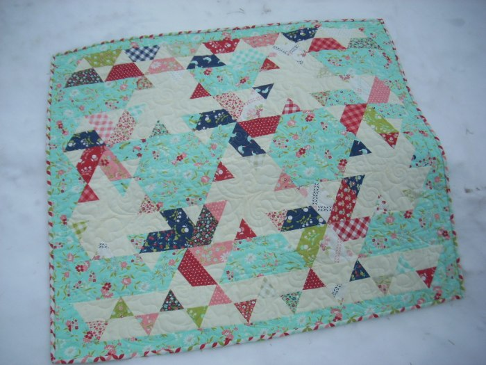 little ruby baby quilt