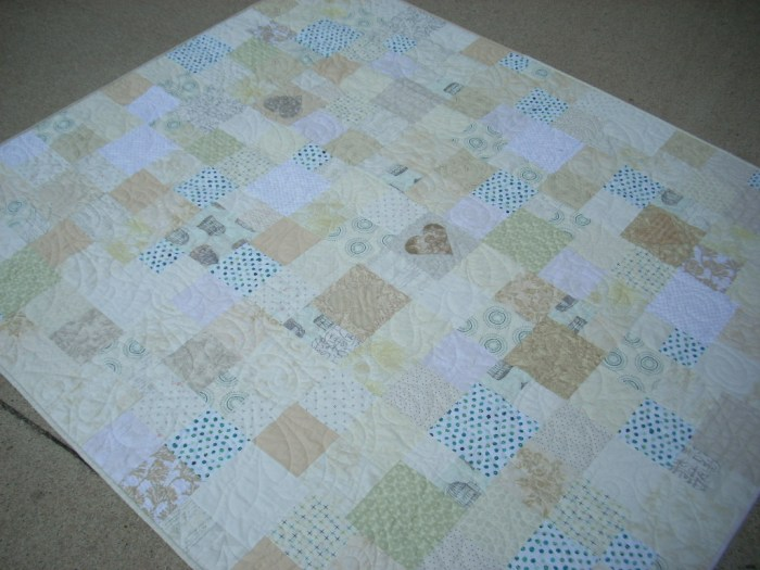 wedding quilt finish