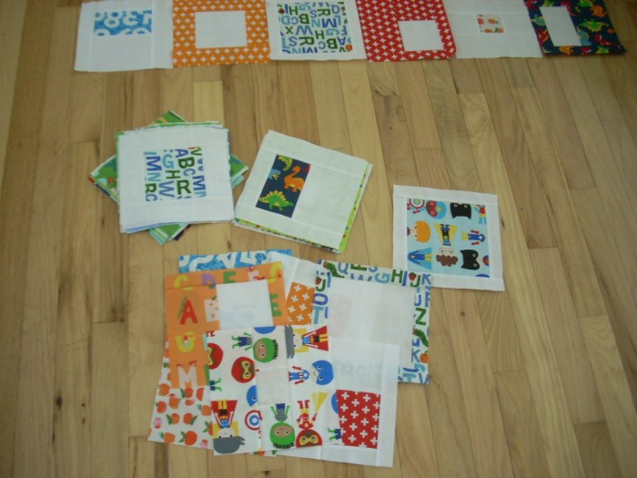 bright boy baby quilt project