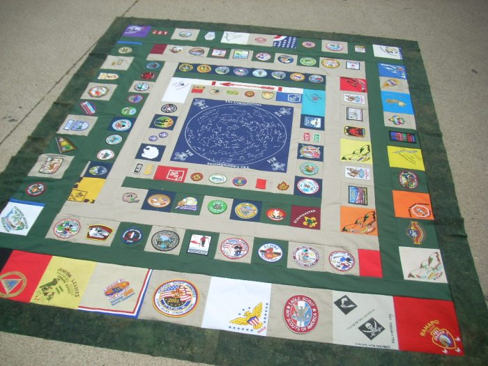 boy scout quilt top finish