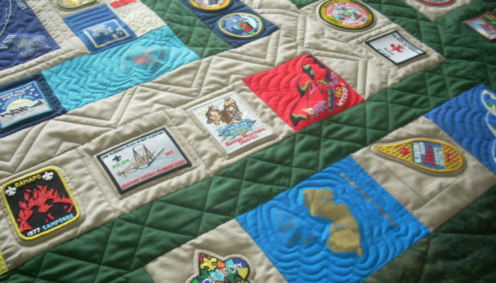 finished Boy Scout quilt