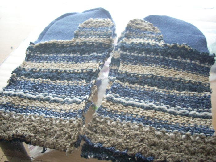 sweater mitten making time again