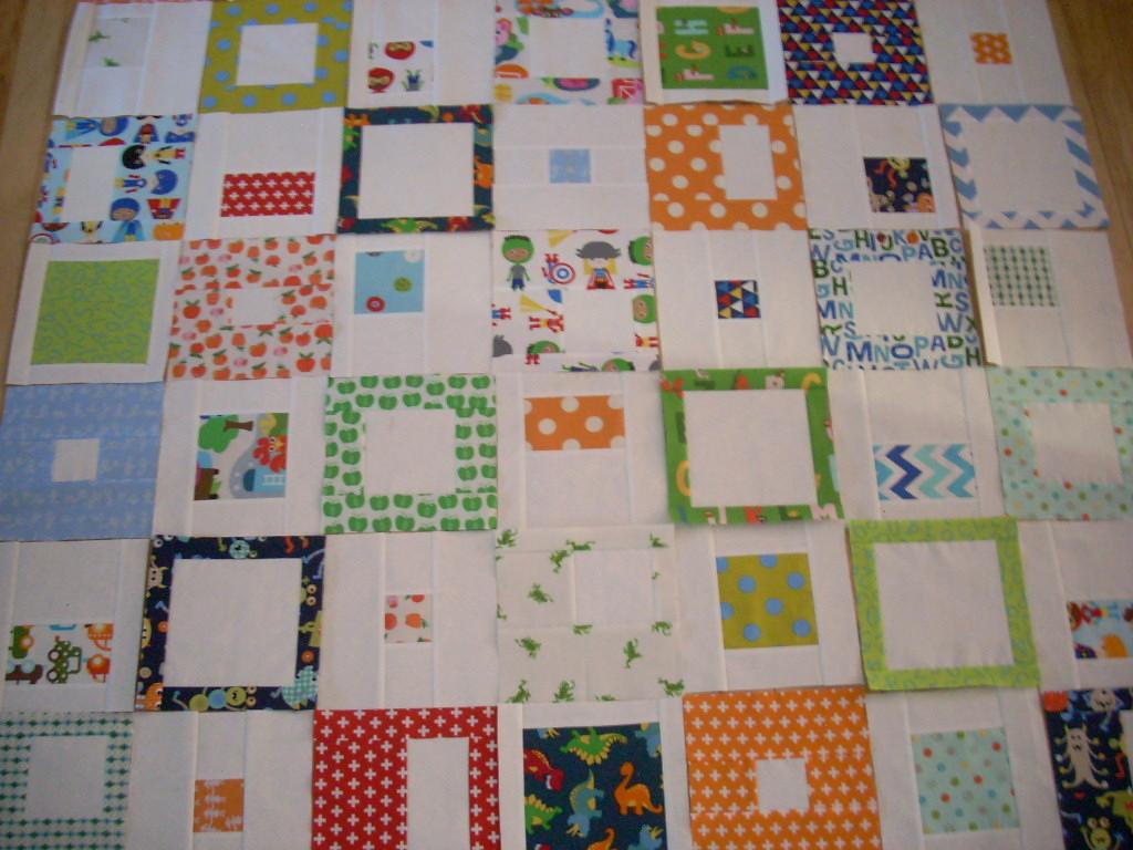 bright blocks into quilt top