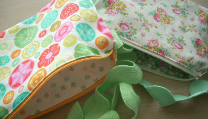 ric rack zippy pouches