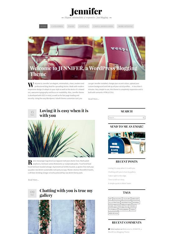 jennifer wordpress theme