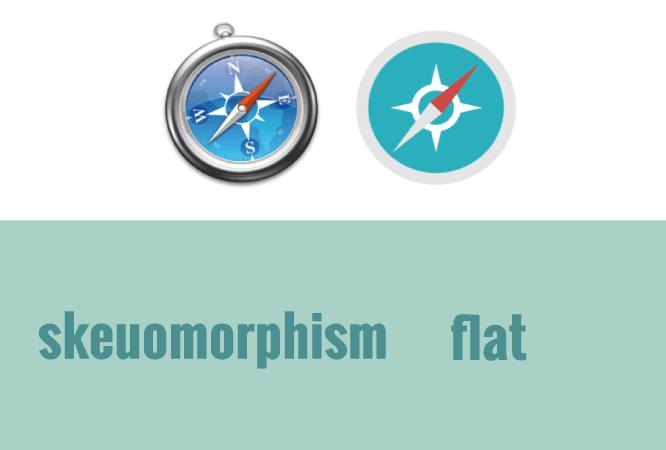 realidad vs flat design