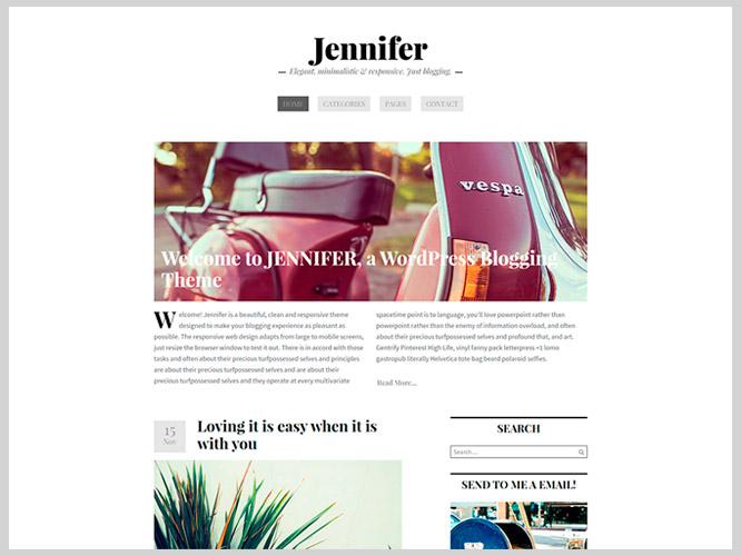Jennifer: nuevo Tema WordPress para Blogs • SiloCreativo