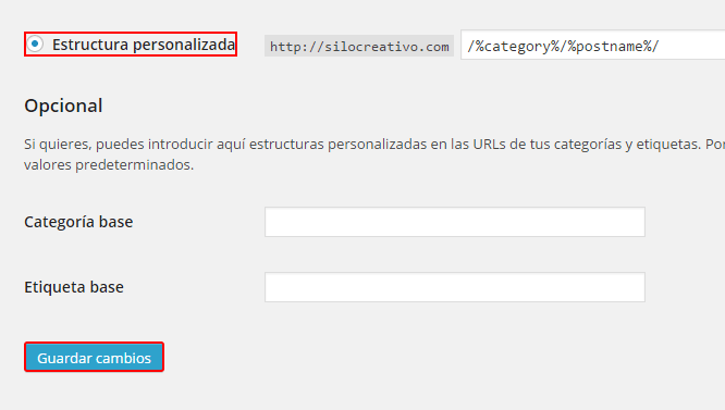 Añadir categoría a permalinks WordPress