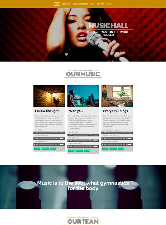 MusicHall - Plantilla WordPress para Músicos y grupos