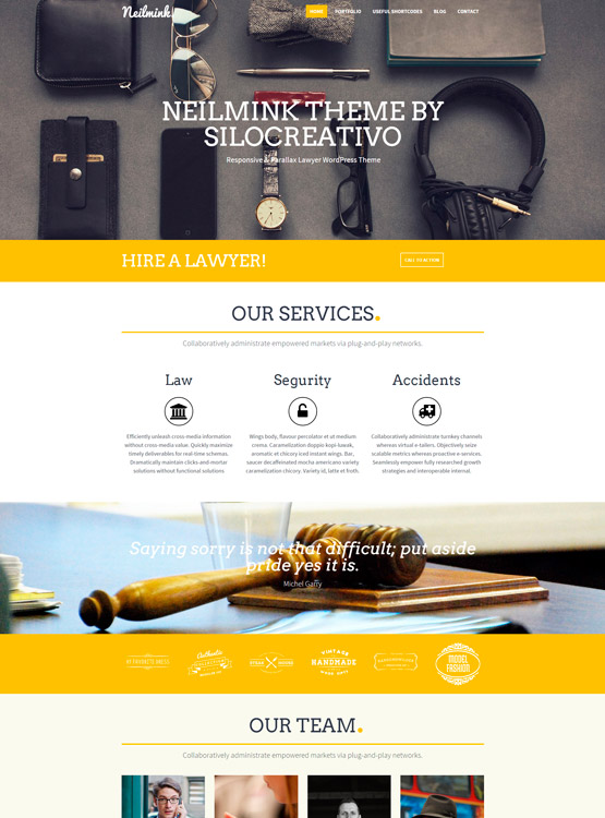 Neilmink- Plantilla WordPress para Abogados • SiloCreativo