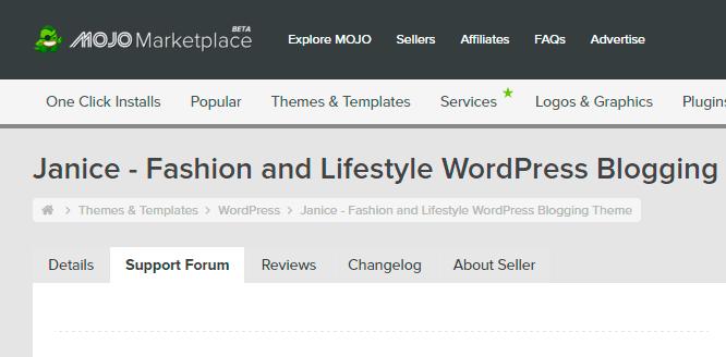 Ayuda con tu Tema WordPress? Encontrar Foro de Soporte