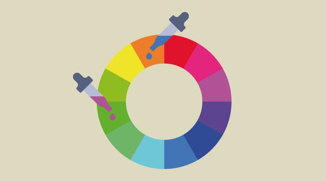 Cómo Combinar Colores Con El Circulo Cromático Naranja Y Verde