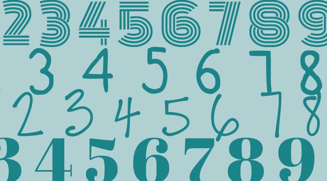10 tipografías para usar números creativos y originales silo creativo