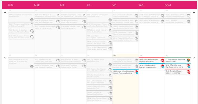 Calendario Editorial en WordPress