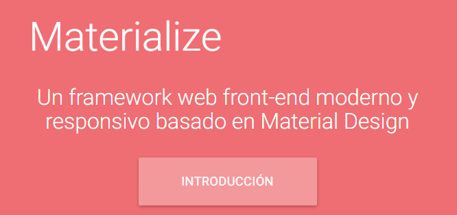 Framework CSS para material design