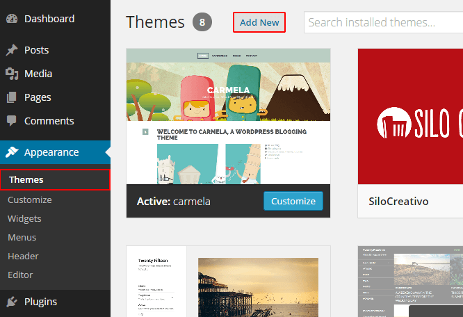 instalar.tema-wordpress